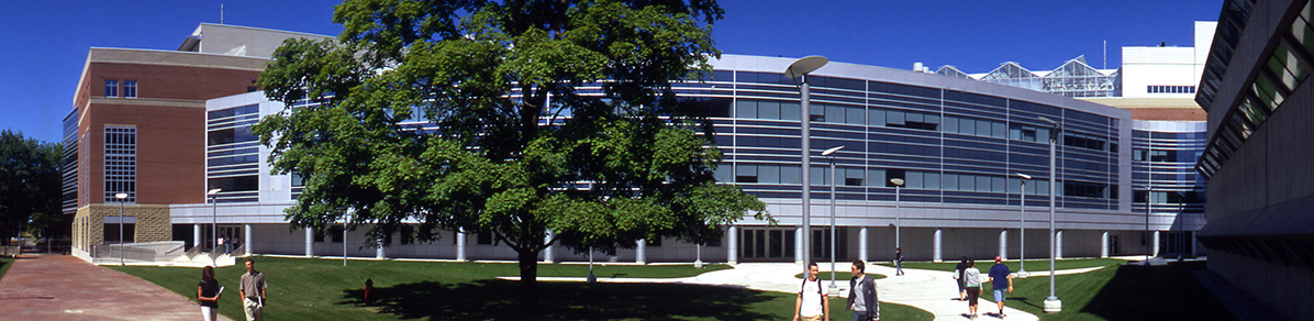 A photograph of the College of Biological Science's Summerlee Science Complex
