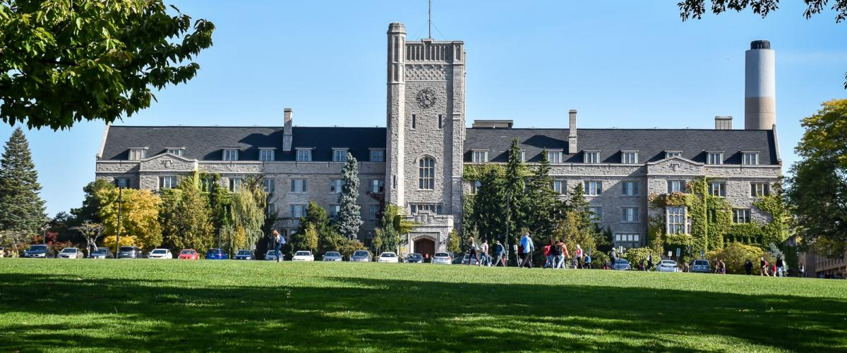 A photograph of Johnston Hall at the University of Guelph